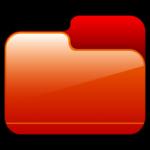 Folder Closed Red Icon