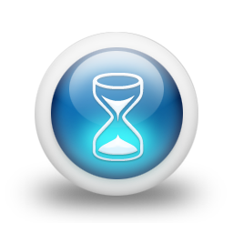 Sanduhr icon png  Glossy 3d blauen Sanduhr Icon - ico,png,icns Gratis Download