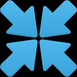 Arrows meeting icon