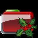 Christmas Folder Holly icon