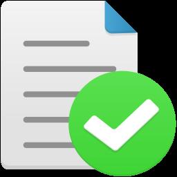 File complete icon