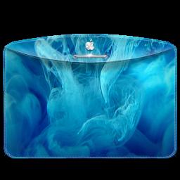 Folder Abstract Blue Smoke icon