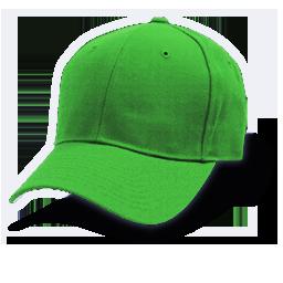 Hat baseball green icon