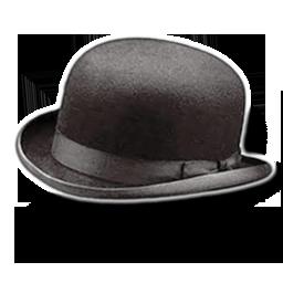 Hat bowler icon