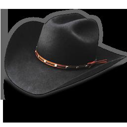 Hat cowboy black icon