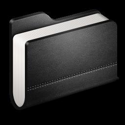 Library Black Folder icon