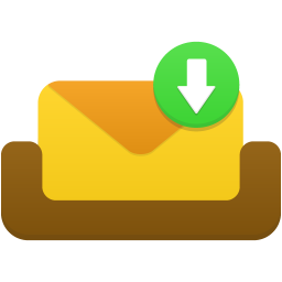Mailbox receive message icon