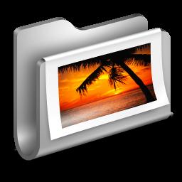 Photos Metal Folder icon