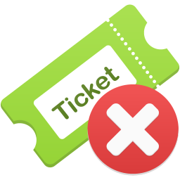 Remove ticket icon