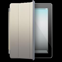 iPad Black beige cover icon