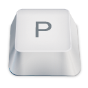 letter uppercase P icon