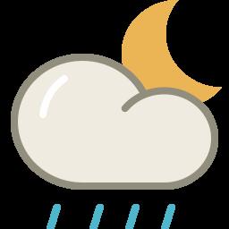 Lightshowers night icon