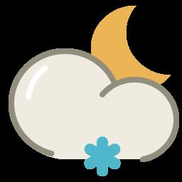 Lightsnow night icon