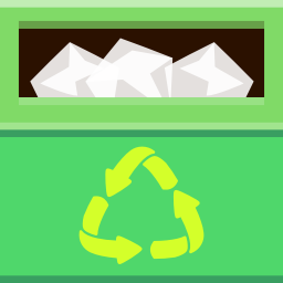 Places trashcan full icon