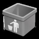 grey trash empty icon