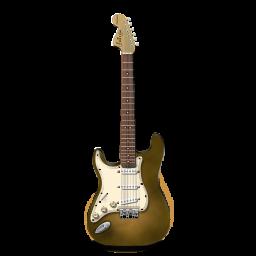 guitar stratocaster orange bright icon