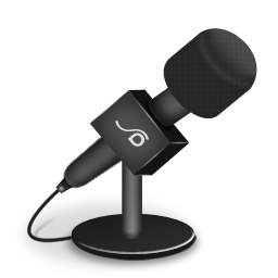 microphone foam black icon