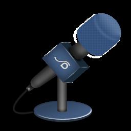 microphone foam blue icon