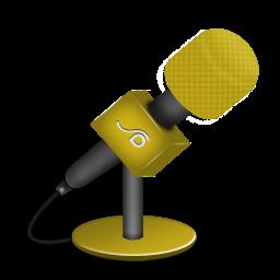 microphone foam orange icon
