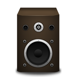 speaker brown icon