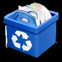 trash blue full icon