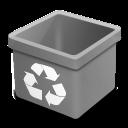 trash grey empty icon