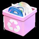 trash pink full icon