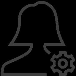 user woman setting icon