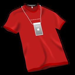 Apple Store Tshirt Red icon