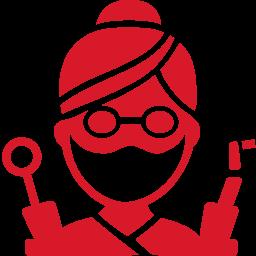 Dentist red icon