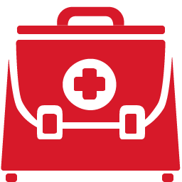 Doctor Briefcase red icon