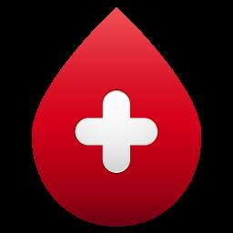 blood drop no shadow icon