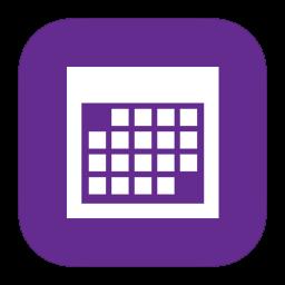 MetroUI Apps Calendar icon