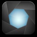 aperture black icon