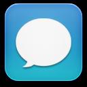 message blue icon