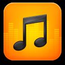 music orange icon