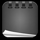 notepad black icon