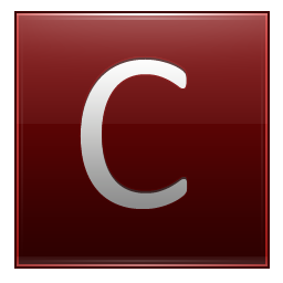 Letter C red icon