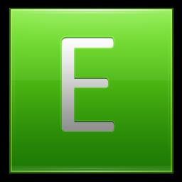 Letter E lg icon