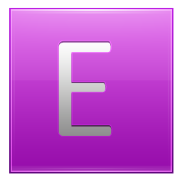 Letter E pink icon