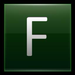 Letter F dg icon