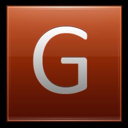 Letter G orange icon