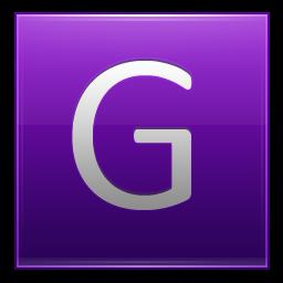 Letter G violet icon