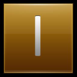 Letter I gold icon