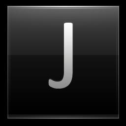 Letter J black icon