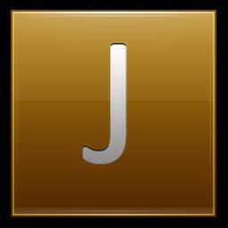 Letter J gold icon