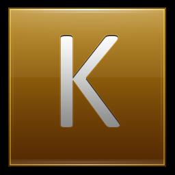 Letter K gold icon