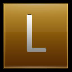 Letter L gold icon