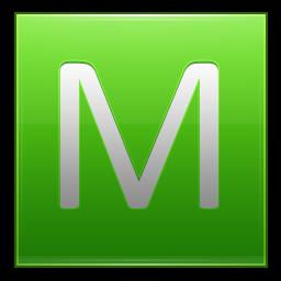 Letter M lg icon