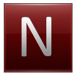 Letter N red icon